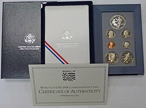 (1994 Various Mint Marks Prestige Proof Set 1994 World Cup USA Silver Dollar)