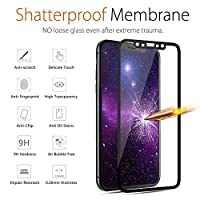 iPhone X Screen Protector,9H Hardness iPhone X Front Back Tempered Glass Screen Protector 5D Full Coverage(Black)(1 Front and 1 Back) from Ehpow
