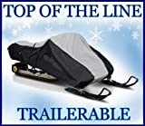 """Top of the line, Heavy-duty, Storage and Trailering Snowmobile Sled Cover. Fits: 2 up, Touring style Yamaha, Polaris, Ski Doo, Arctic Cat 125""""-140"""" in length"""