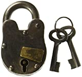 Cast Iron Lock with 2 keys Antique replica with working mechanism 1'' x 3'' Treasure Pirate Padlock