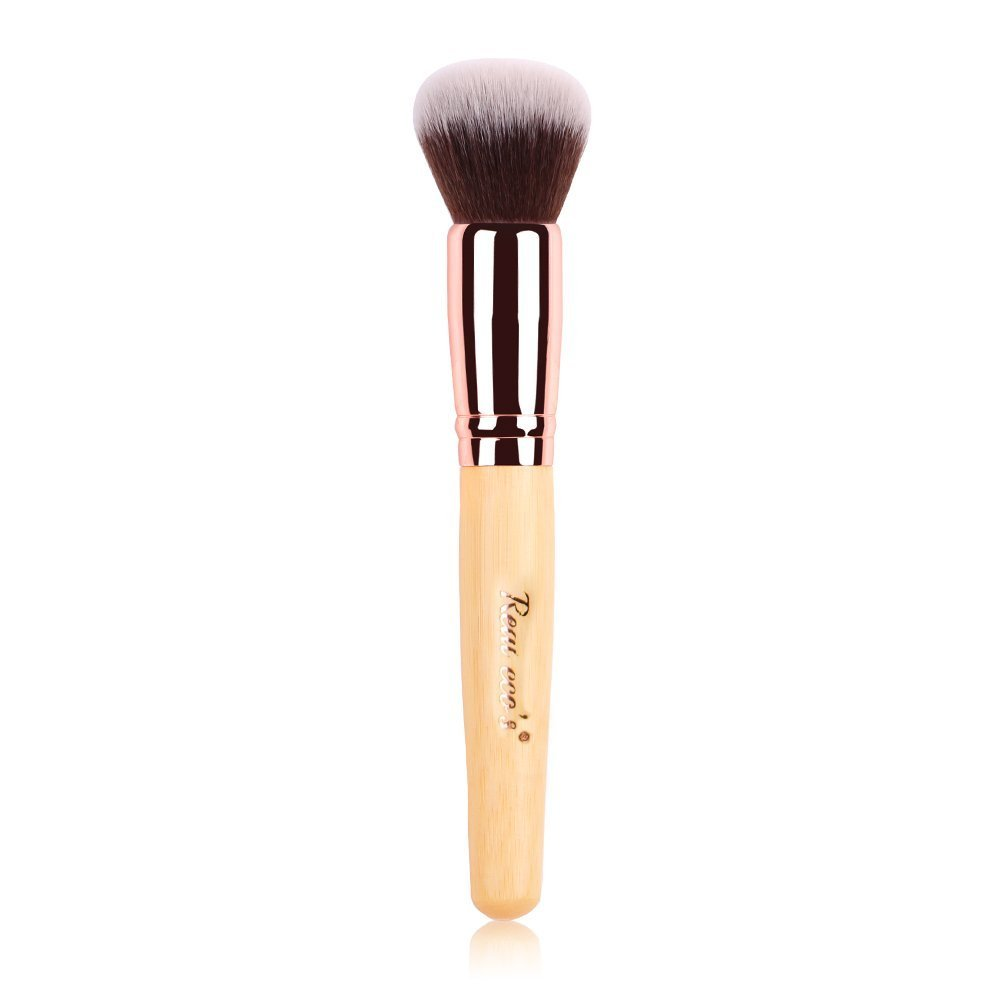 Contour Brush, Face Brush with Bamboo, Soft Foundation Brush, Premium Blush Brush, Powder Brush, Concealer Brush-Makeup Brushes Tool real eco' s