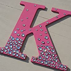 Sparkle Hot Pink Semi Bling Decorative Wall Letters, Wedding Decor
