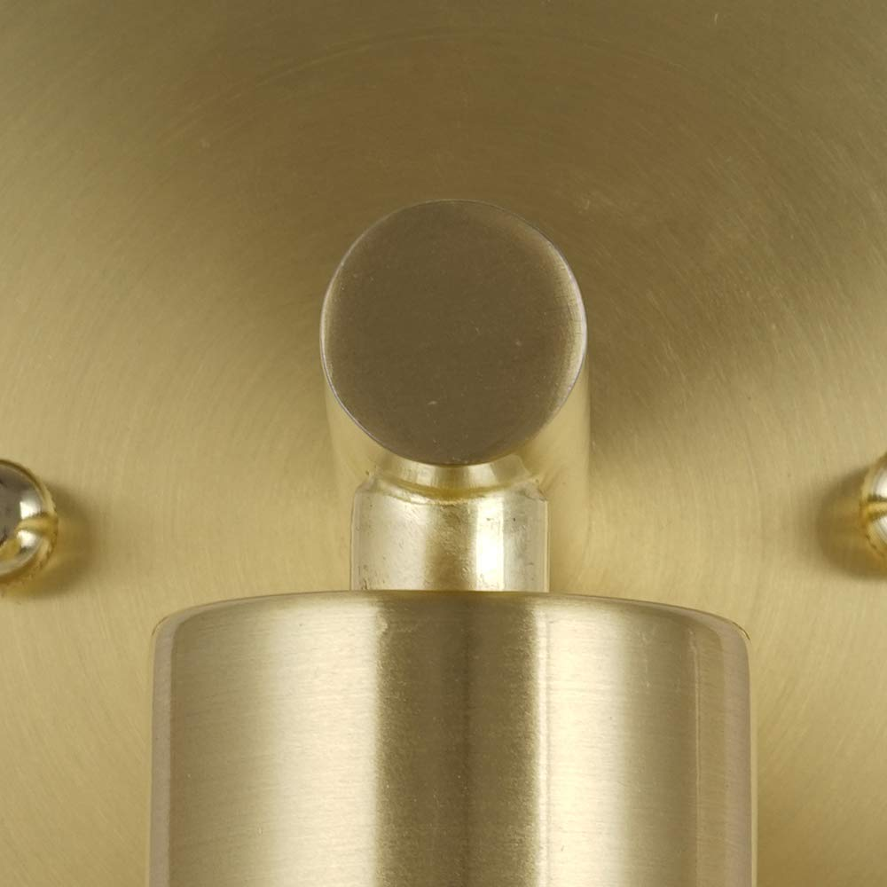 Rivet Modern Wall Sconce with Bulb, 9.13''H, Satin Brass by Rivet (Image #7)