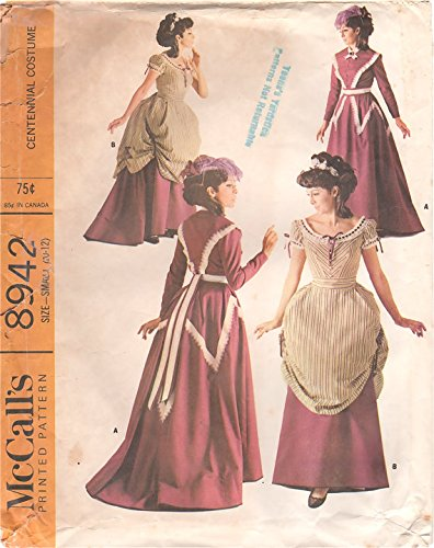 McCall's 8942 Centennial Costume: Late 1860s Skirt, Overskirt and Bodices -  Vintage 1967 Sewing Pattern Check Offers for Size
