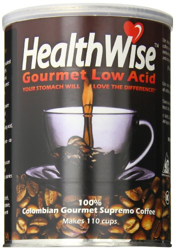 HealthWise Low Acid Coffee, 100% Colombian Supremo, 12 - Kava Instant Coffee