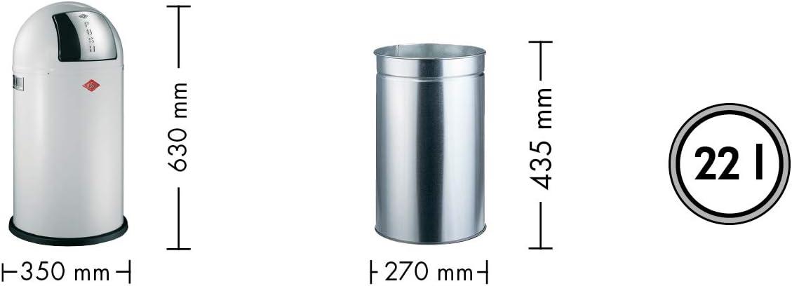 Wesco Abfallsammler Pushboy Junior 22 Liter cool gray