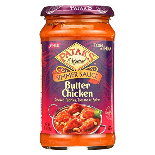 (Pataks Simmer Sauce - Butter Chicken Curry - Mild - 15 oz - case of 6 - - - - -)