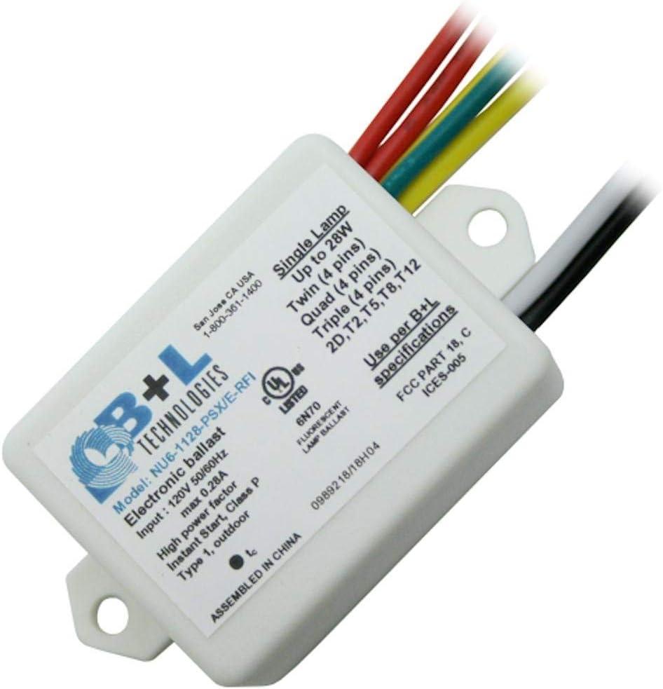 B+L Technologies 28W 120V NU6-1128-PSS COMPACT FLUORESCENT BALLAST