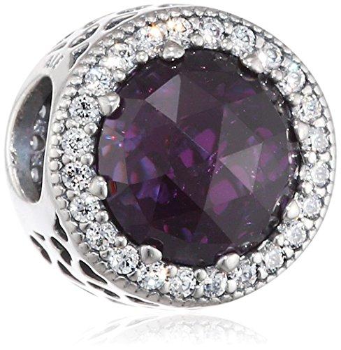 Price comparison product image PANDORA 791725NRP Radiant Hearts Charm, Royal Purple
