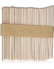 مجموعة عصي خشبية صغيرة لوضع الشمع لازالة الشعر من ساتن سموث، 100 قطعة