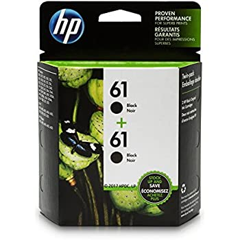 HP 61 Black Ink Cartridge (CH561WN), 2 Ink Cartridges (CZ073FN)