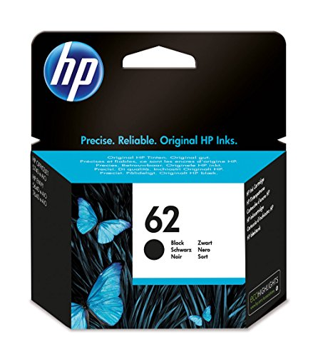 HP 62 Black Ink Cartridge cartucho de tinta Negro 4 ml - Cartucho de tinta para impresoras (Original, Negro, HP, ENVY 5640...