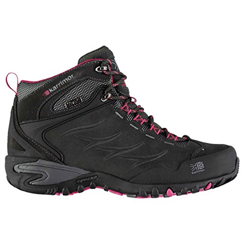 Black Waterproof Walking Lace Breathable Padded Corrie Boots Womens Mid Karrimor Up Berry tq8wvA1xfn