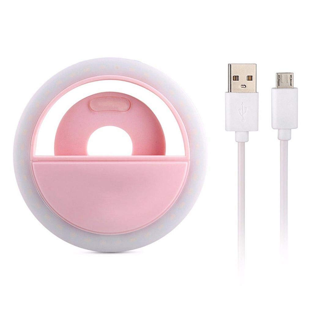 Iannan Portable USB Charge LED Camera Phone Photography Selfie Ring Light On-Camera Video Lights