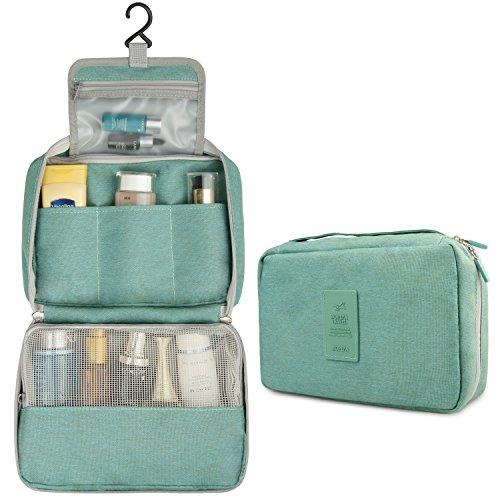 Hanging Toiletry Bag, Travel Toiletry Organizer Cosmetic Makeup Bag Kit for Women Men Green