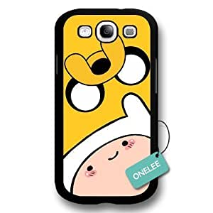 Adventure Time - Finn Face & Jake Face For Iphone 6 4.7 Inch Case Cover &Black 1