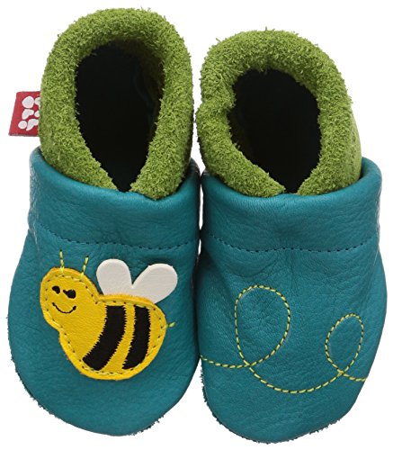 Pololo Biene Susi - Zapatillas de estar por casa Unisex niños Türkis (Waikiki Pistazie 434)