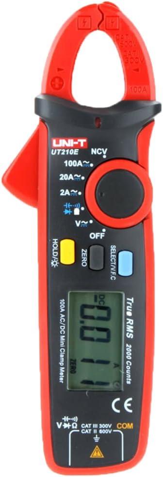 Topker Uni-t pinza abrazadera metro UT210E Mini mult/ímetro digital CA DC amper/ímetro capacitancia probador