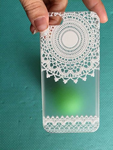 Iphone 5 5s case . Gomyc(TM) Plastic Case Cover for Iphone 5 Henna White Floral Paisley Flower Mandala For iphone 5 iphone 5s (iphone 5 5s -C)