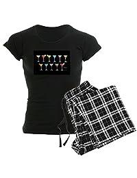 CafePress - Black Martinis - Womens Pajama Set