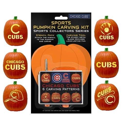 Mlb Chicago Cubs Baseball Purse - MLB Chicago Cubs Pumpkin Carving Kit