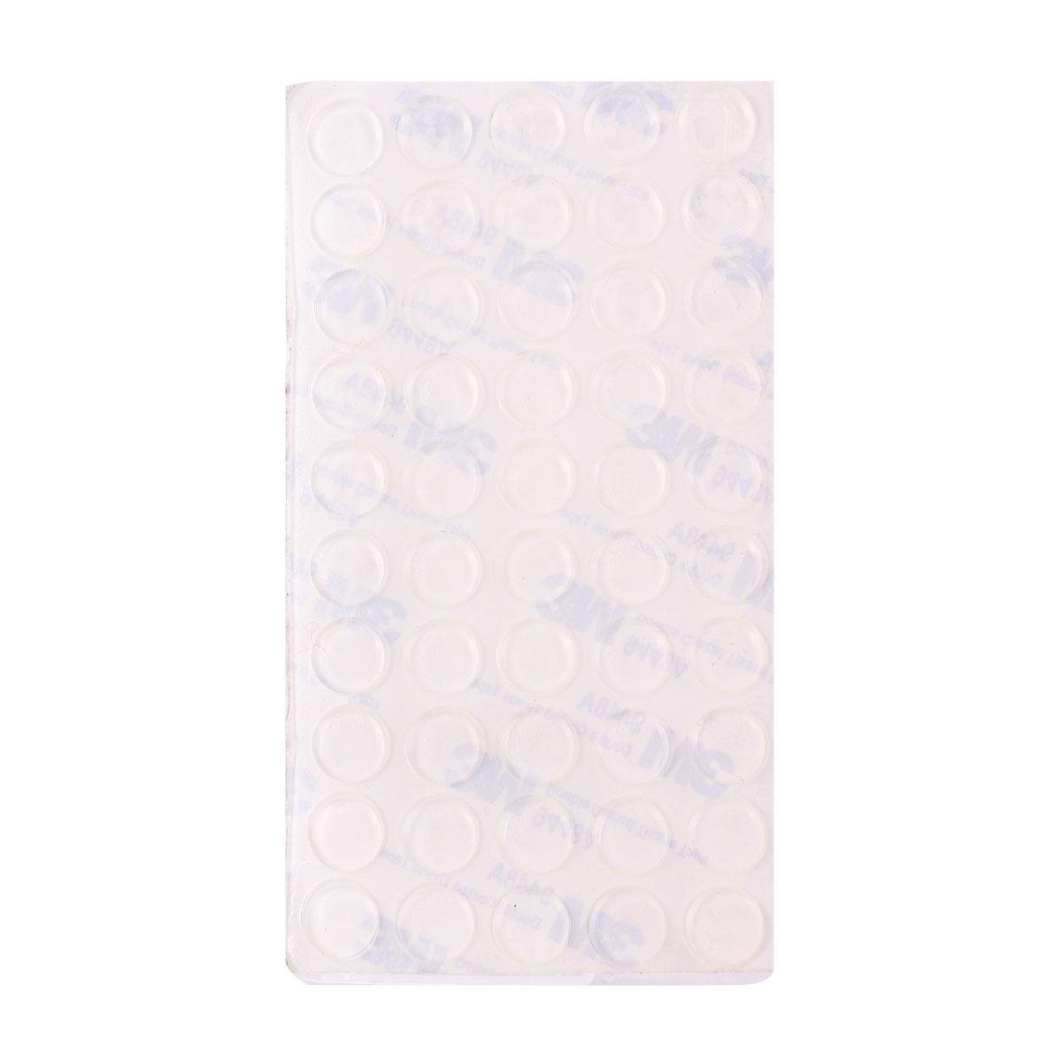 Yevita 50pcs Round Self Stick Pad Sound Dampening Door Domed Bumpers Rubber Stop Protector