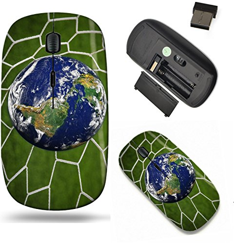 Liili Wireless Mouse Travel 2 4G Wireless Mice With Usb Receiver  Click With 1000 Dpi For Notebook  Pc  Laptop  Computer  Mac Book Image Id  16215494 Earth Globe In Goal Net With Green Grass Field