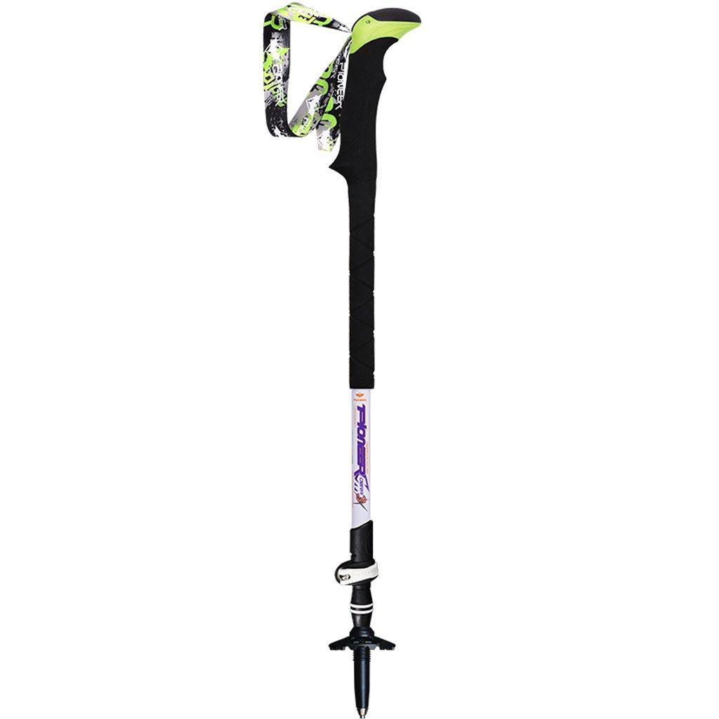 スポーツ&アウトドア 登山 クライミング トレッキングポール 炭素合金超軽量折りたたみテレスコピックトレッキングポールハイキング屋外機器スティッククライミング CHENGYI (色 : A) B07CVZHB3L A