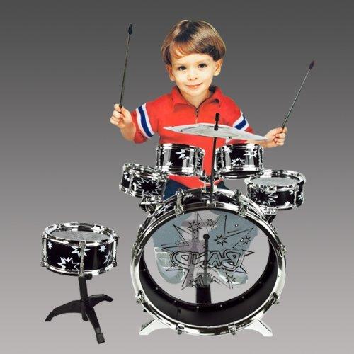 11pc-kids-boy-girl-drum-set-musical-instrument-toy-playset-black