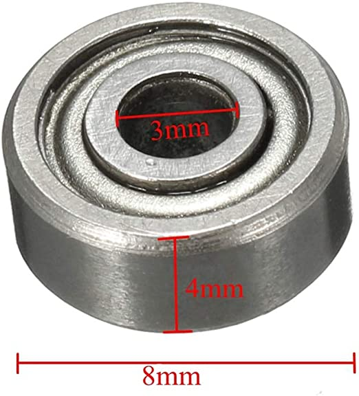 10 Pcs Metal Double Shielded Ball Bearing Bearings 3*10*4 3x10x4 mm 623ZZ