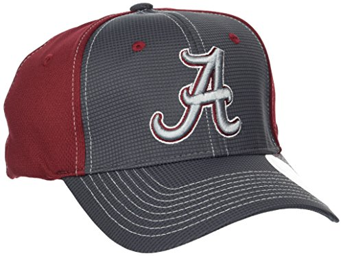 ZHATS NCAA Alabama Crimson Tide Adult Men Grid Cap, X-Large, Gray/Team ()