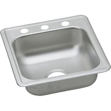 Dayton 17 x 19 top mount kitchen sink 3 faucet holes stainless dayton 17quot x 19quot top mount kitchen sink 3 faucet holes stainless workwithnaturefo