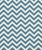 Premier Prints Zig Zag Denim/Natural Fabric - by the Yard