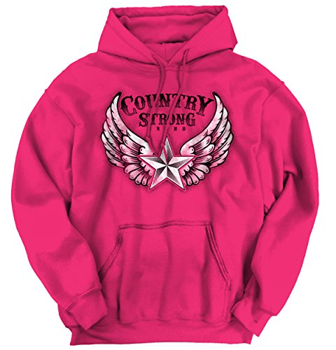 Country Strong Star Wing Shirt for Women | Cowboy Rodeo West Hoodie Sweatshirt (Wings West Type)