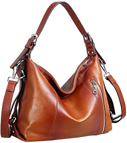 Heshe Vintage Womens Leather Handbags Tote Bag Top Handle Bag Satchel Designer Purses Cross-body Bag