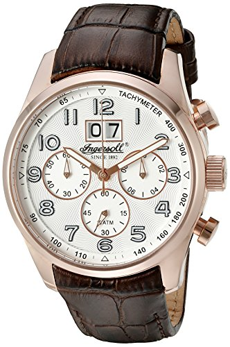 Ingersoll Men's INQ 038 SLRS Exmouth Analog Display Japanese Quartz Brown Watch