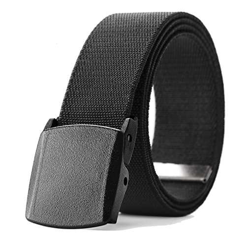 - Men's Elastic Stretch Belt, JASGOOD Outdoor Plastic Belt with Removable Buckle Hiking Belt 38mm (Fit up to 44'', 01 Black)