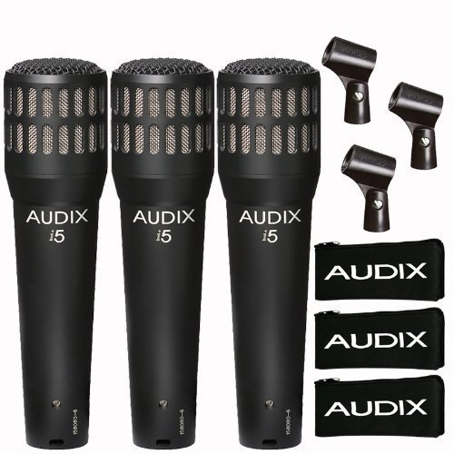 Audix I5 Dynamic Mic (3-Pack) (I5 Dynamic Instrument)