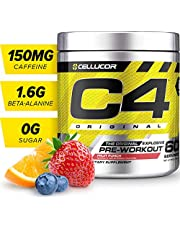 Cellucor C4 Original Pre Workout Powder Energy Drink w/Creatine, Nitric Oxide & Beta Alanine, Fruit Punch, 60 Servings