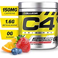 C4 Original Pre Workout Powder Fruit Punch | Sugar Free Preworkout Energy Supplement for Men & Women | 150mg Caffeine + Beta Alanine + Creatine | 60 Servings