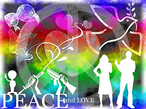 Home Comforts LAMINATED POSTER Peace Love Freedom 2 Illustrations Poster Print 24 x 36 by Home Comforts