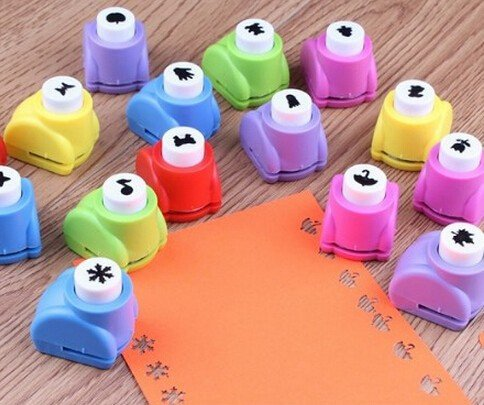 Krismile® Hot NewMini Paper Craft Punch Card Scrapbooking Engraving Kid Cut DIY Handmade Hole Puncher for Festival Papers and Greeting Card Set of 20 with Random Colors and Random Cutting Shape by Krismile