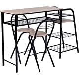 Nice Giantex 3 PC Pub Dining Set Table Chairs Counter Height Home Breakfast  W/Storage Shelves