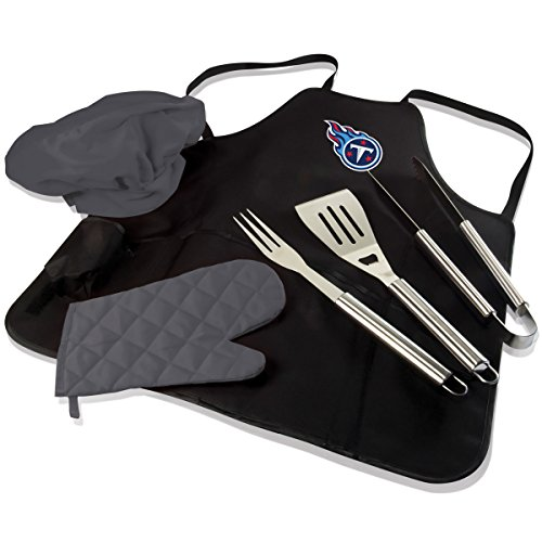 PICNIC TIME NFL BBQ Apron Tote Pro, Tennessee Titans by PICNIC TIME