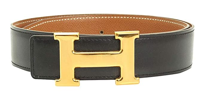 d1e777aa2 VOUICCI Designer H-Buckle Reversible Leather Belt(Black/Gold, 36-40  inches/120cm) at Amazon Men's Clothing store:
