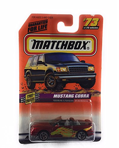Matchbox 1998-73 de 75 Series10 Street Cruisere Mustang Cobra 1:64 Escala
