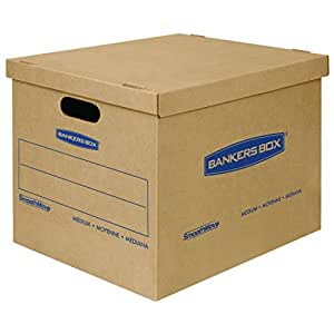 bankers box smoothmove classic moving boxes tape free assembly easy carry handles. Black Bedroom Furniture Sets. Home Design Ideas