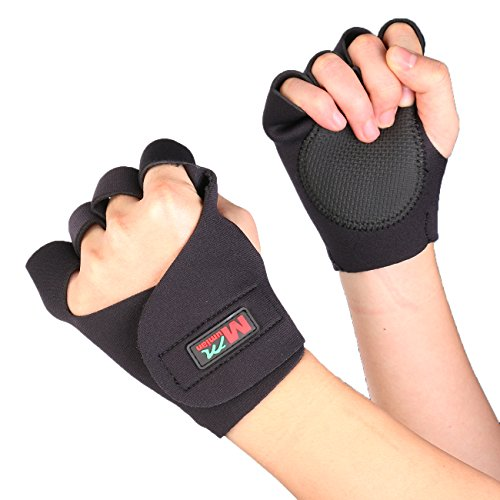Men & Women Sports Gym Gloves Fitness Training Exercise Anti Slip Weight Lifting Gloves Half Finger Body Workout ()
