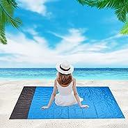 Beach Blanket,6.5x4.5ft, Sandproof Waterproof Picnic Blanket, Soft Comfortable Durable Material, Shuangpin Des