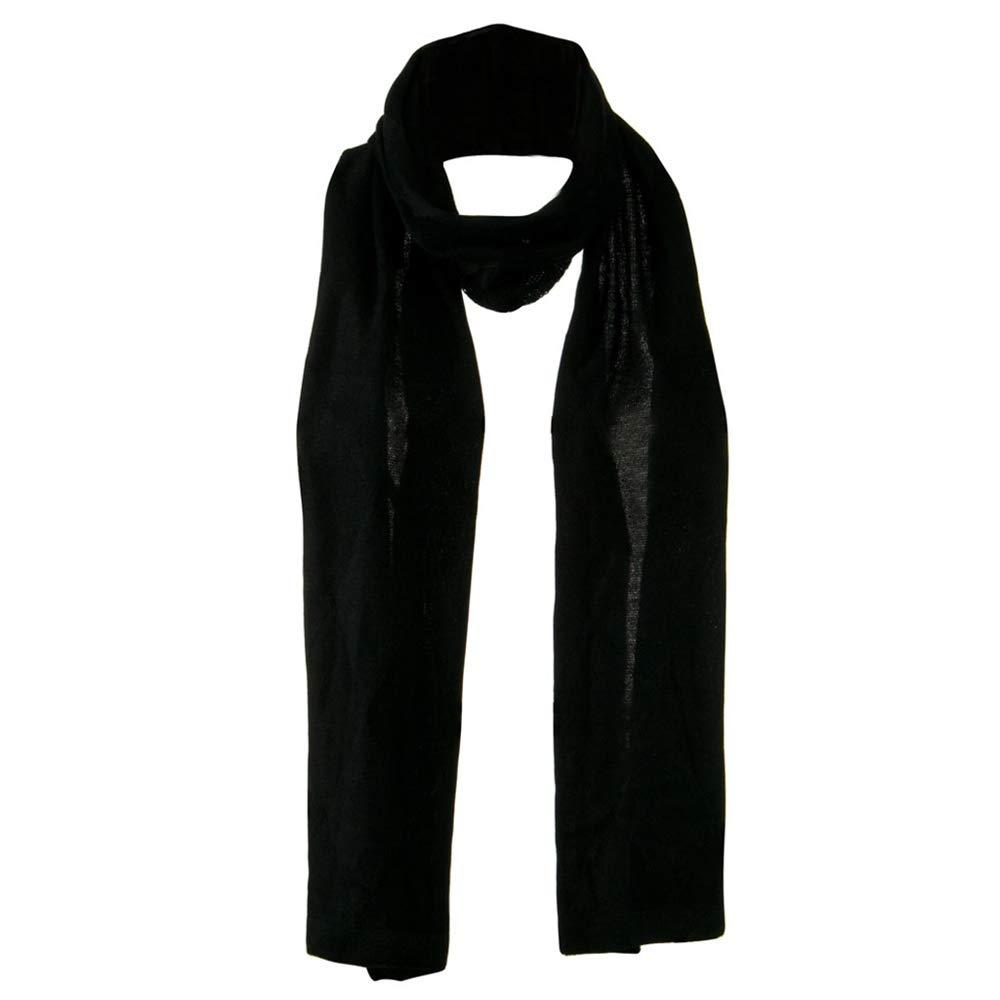 Flat Knit Solid Argyle Muffler - Black